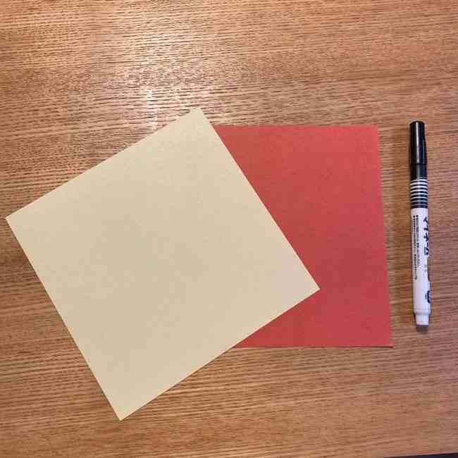 折り紙のポムポムプリン 立体的な箱*用意する物