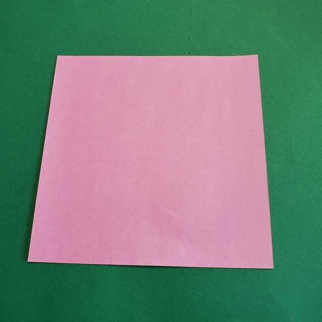 折り紙のポロンの作り方折り方①顔 (1)