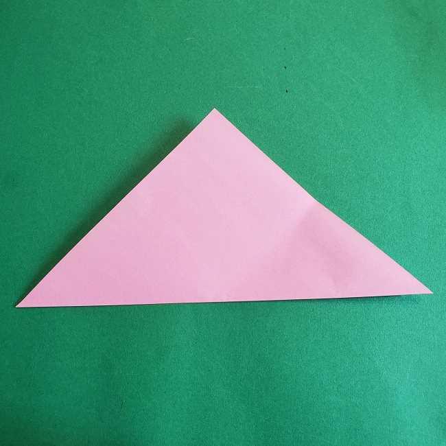 折り紙のポロンの作り方折り方①顔 (11)