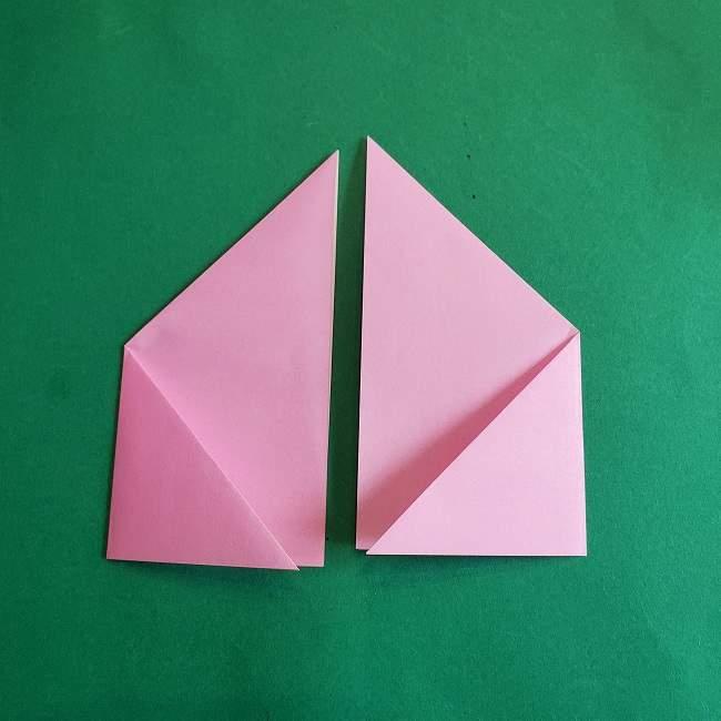 折り紙のポロンの作り方折り方①顔 (13)