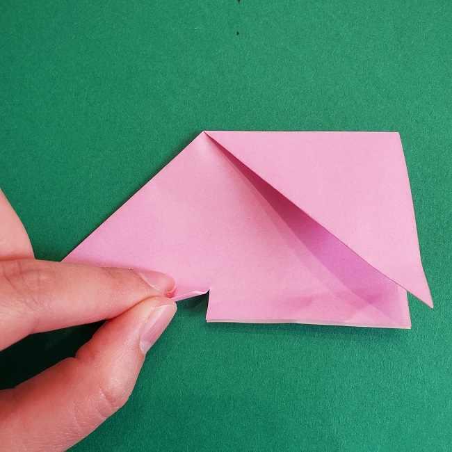 折り紙のポロンの作り方折り方①顔 (14)