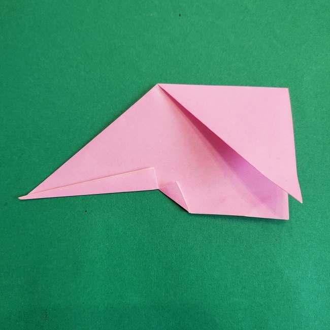 折り紙のポロンの作り方折り方①顔 (15)