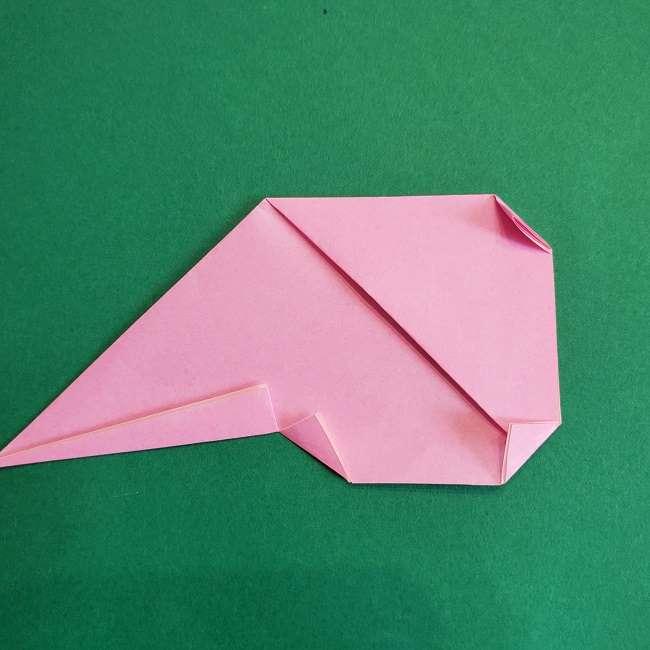 折り紙のポロンの作り方折り方①顔 (16)