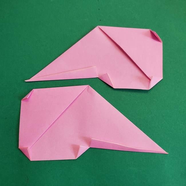 折り紙のポロンの作り方折り方①顔 (17)