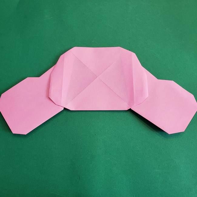 折り紙のポロンの作り方折り方①顔 (18)