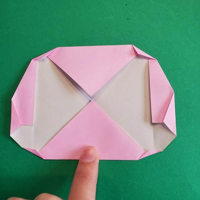 折り紙のポロンの作り方折り方①顔 (8)