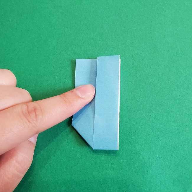 折り紙のポロンの作り方折り方②リボン (11)