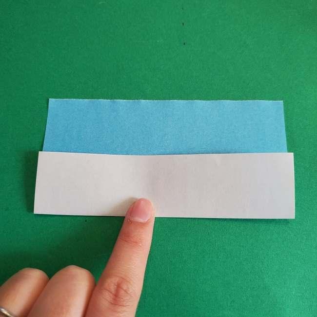 折り紙のポロンの作り方折り方②リボン (5)