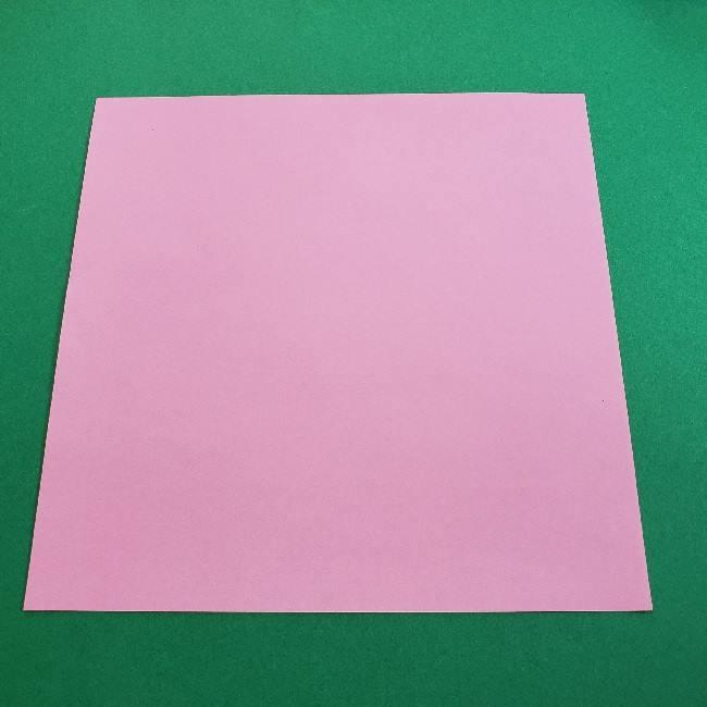 折り紙のマイメロちゃんの作り方折り方 (1)