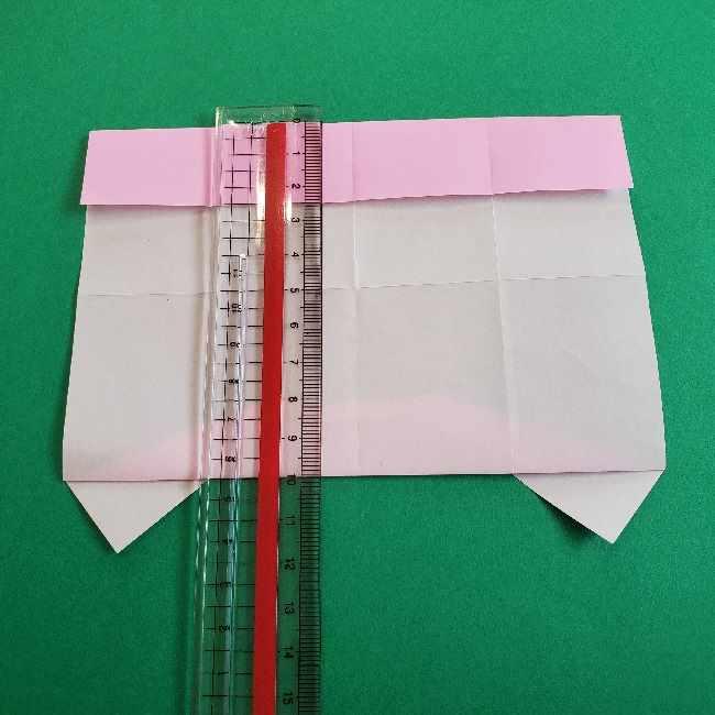 折り紙のマイメロちゃんの作り方折り方 (11)
