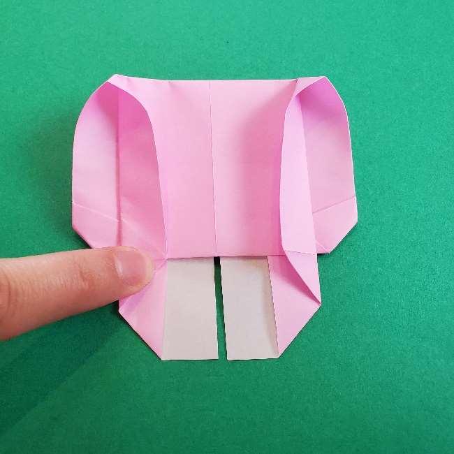 折り紙のマイメロちゃんの作り方折り方 (19)