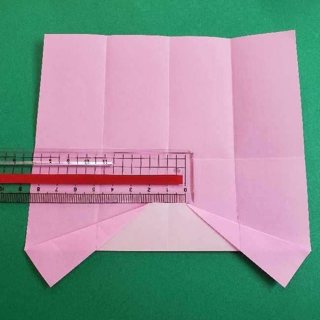 折り紙のマイメロちゃんの作り方折り方 (7)