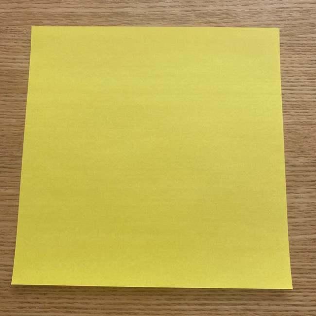 折り紙の皮むきバナナ☆用意するもの