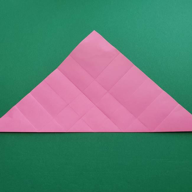 折り紙の花ダリア(12枚)の折り方作り方①折り筋(11)