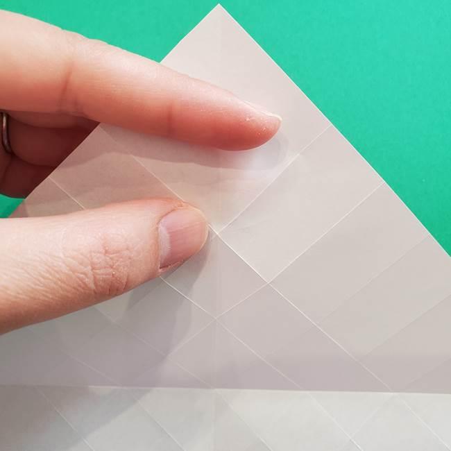 折り紙の花ダリア(12枚)の折り方作り方①折り筋(13)