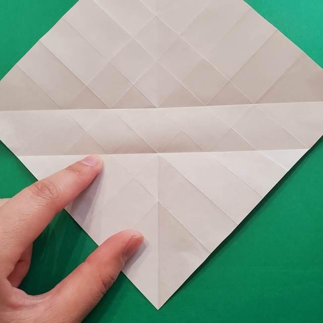 折り紙の花ダリア(12枚)の折り方作り方①折り筋(15)