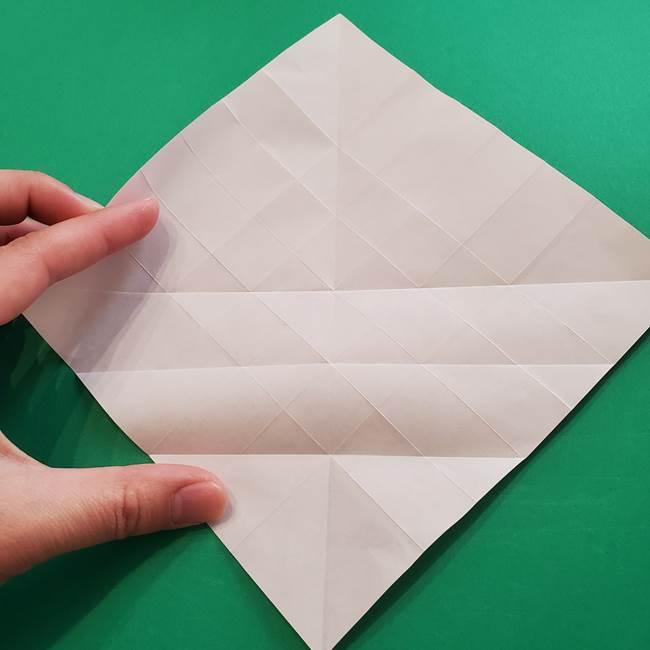 折り紙の花ダリア(12枚)の折り方作り方①折り筋(17)