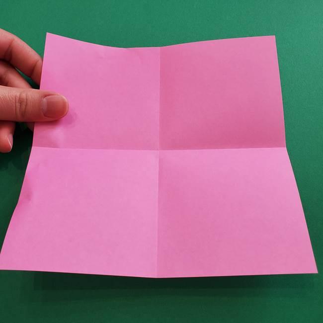 折り紙の花ダリア(12枚)の折り方作り方①折り筋(4)