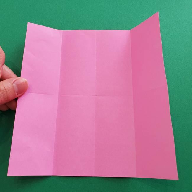 折り紙の花ダリア(12枚)の折り方作り方①折り筋(6)