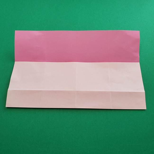 折り紙の花ダリア(12枚)の折り方作り方①折り筋(8)