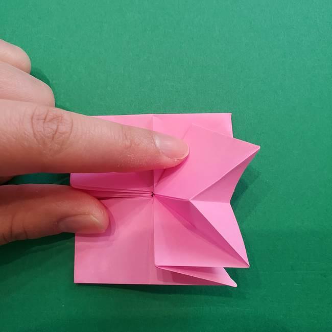 折り紙の花ダリア(12枚)の折り方作り方②折る(10)