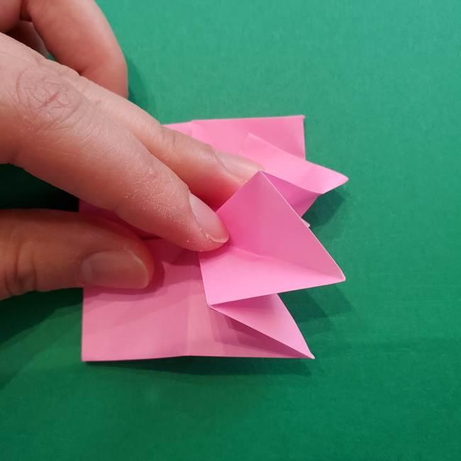 折り紙の花ダリア(12枚)の折り方作り方②折る(11)