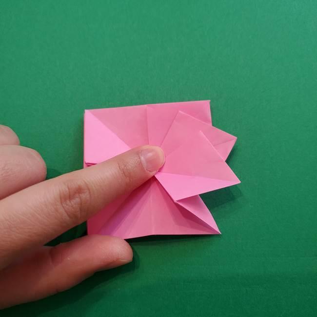 折り紙の花ダリア(12枚)の折り方作り方②折る(12)