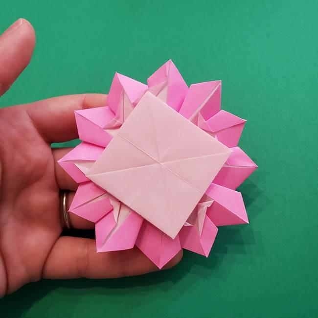 折り紙の花ダリア(12枚)の折り方作り方②折る(18)
