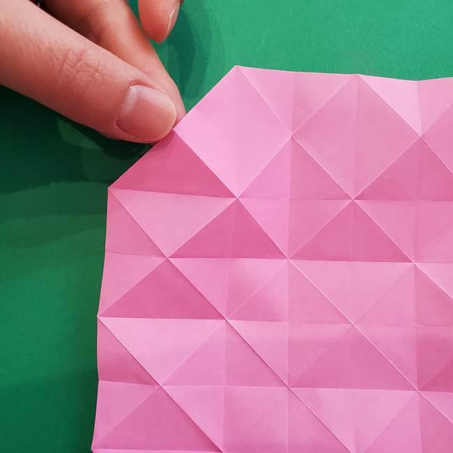 折り紙の花ダリア(12枚)の折り方作り方②折る(2)