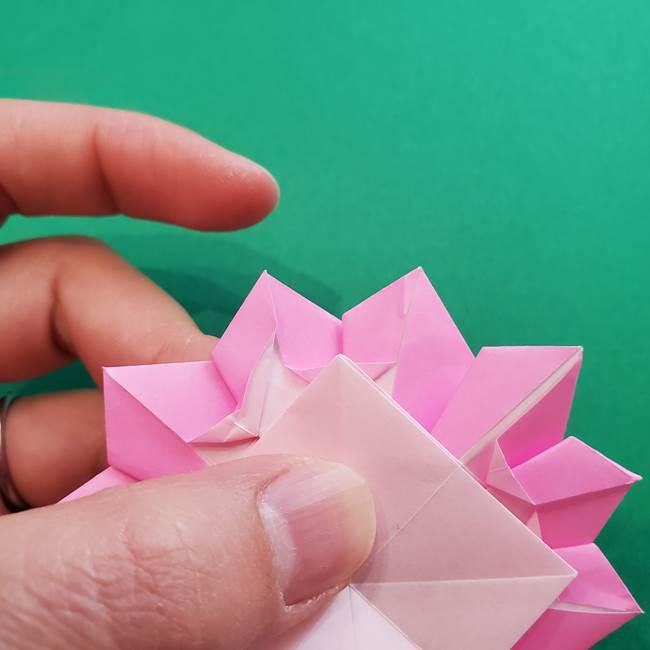 折り紙の花ダリア(12枚)の折り方作り方②折る(20)
