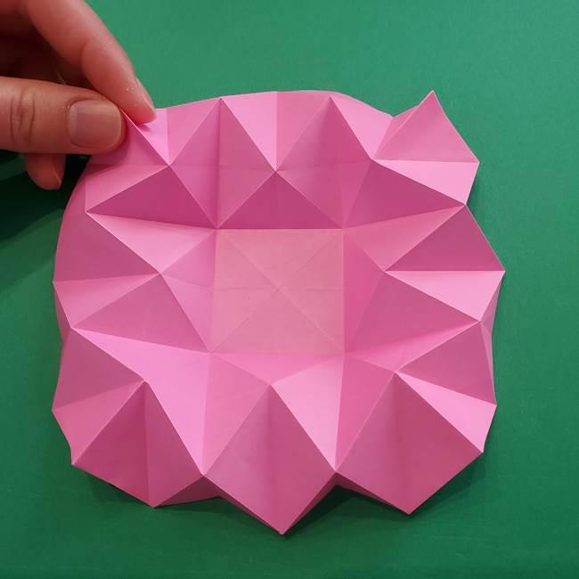 折り紙の花ダリア(12枚)の折り方作り方②折る(3)