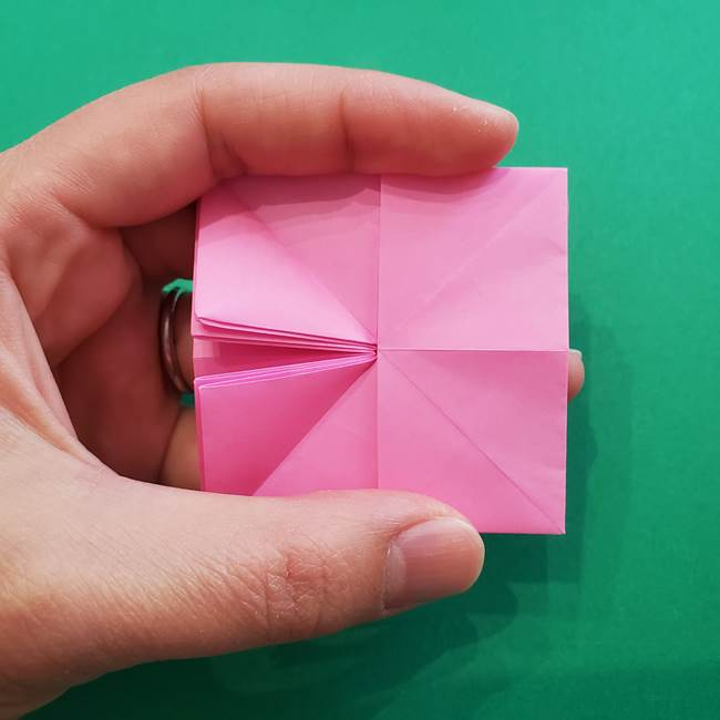 折り紙の花ダリア(12枚)の折り方作り方②折る(6)