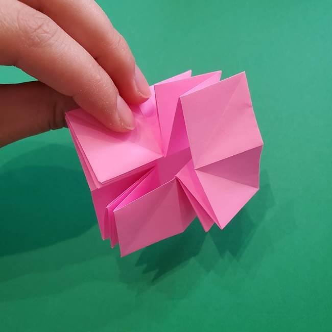 折り紙の花ダリア(12枚)の折り方作り方②折る(7)