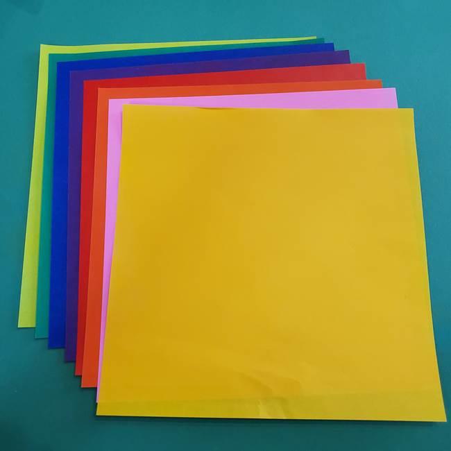 折り紙の花火は8枚の同じパーツから作れる!