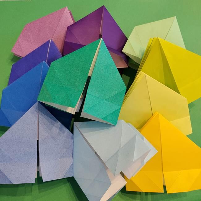 折り紙の花火 12枚でつくる意外と簡単な作り方折り方①パーツ(31)