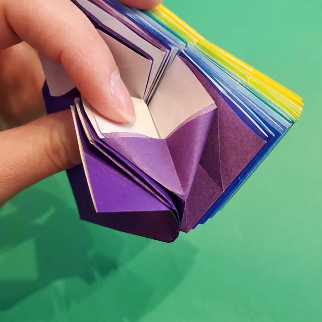 折り紙の花火 12枚でつくる意外と簡単な作り方折り方②組み立て(16)