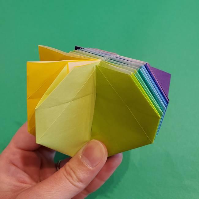 折り紙の花火 12枚でつくる意外と簡単な作り方折り方②組み立て(22)