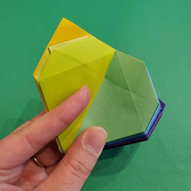 折り紙の花火 12枚でつくる意外と簡単な作り方折り方②組み立て(24)