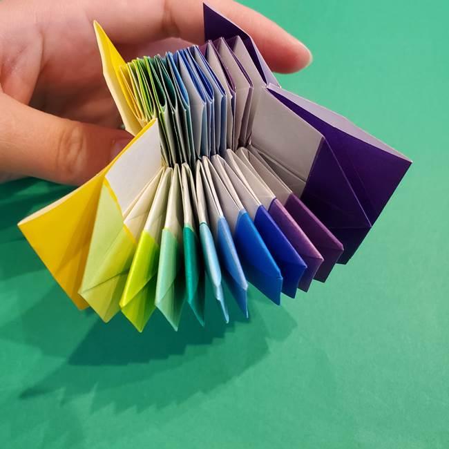 折り紙の花火 12枚でつくる意外と簡単な作り方折り方②組み立て(27)