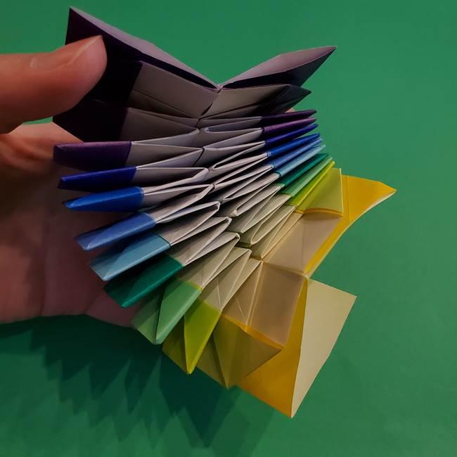 折り紙の花火 12枚でつくる意外と簡単な作り方折り方②組み立て(29)