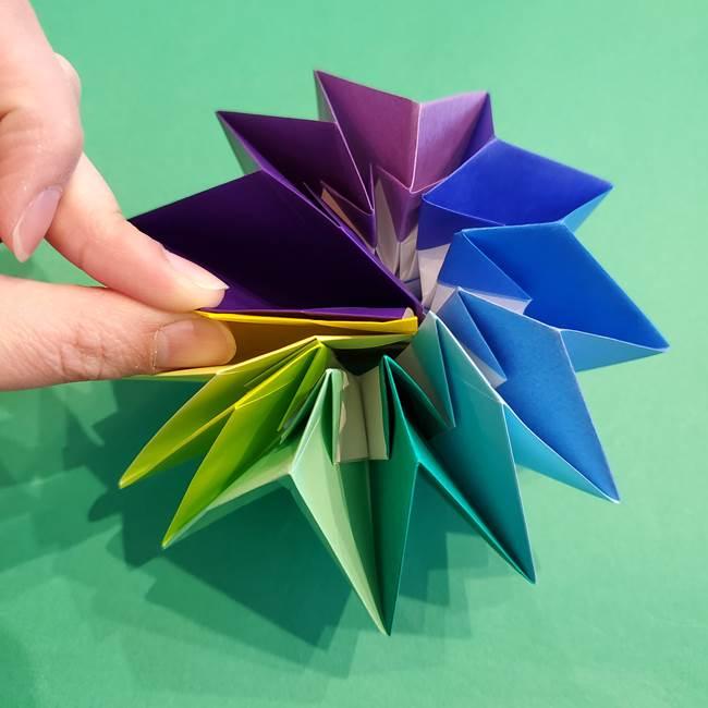 折り紙の花火 12枚でつくる意外と簡単な作り方折り方②組み立て(30)