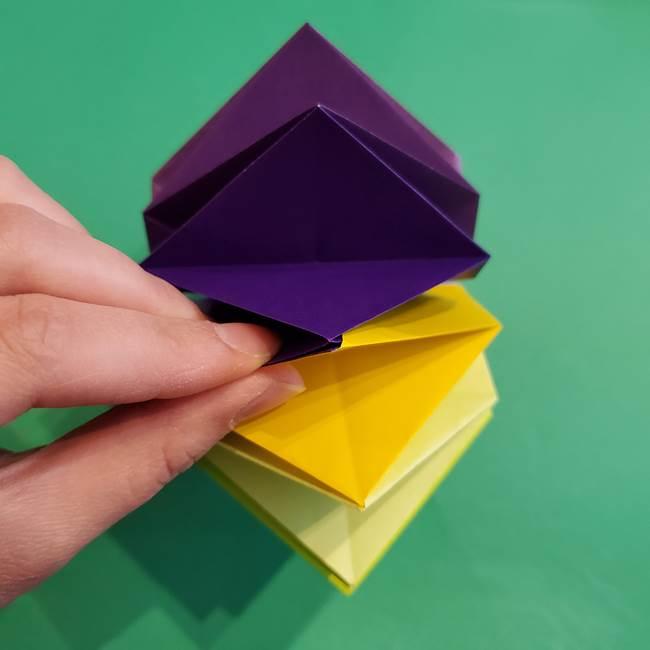 折り紙の花火 12枚でつくる意外と簡単な作り方折り方②組み立て(31)