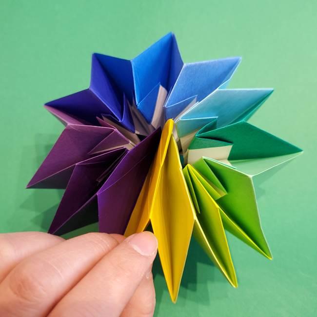 折り紙の花火 12枚でつくる意外と簡単な作り方折り方②組み立て(32)