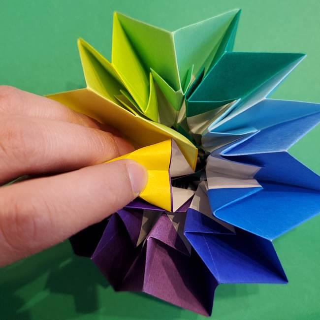 折り紙の花火 12枚でつくる意外と簡単な作り方折り方②組み立て(33)