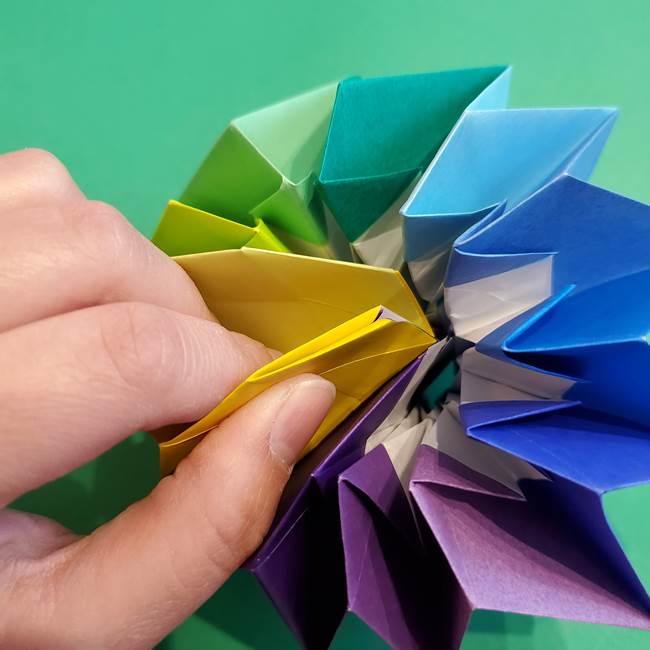 折り紙の花火 12枚でつくる意外と簡単な作り方折り方②組み立て(34)