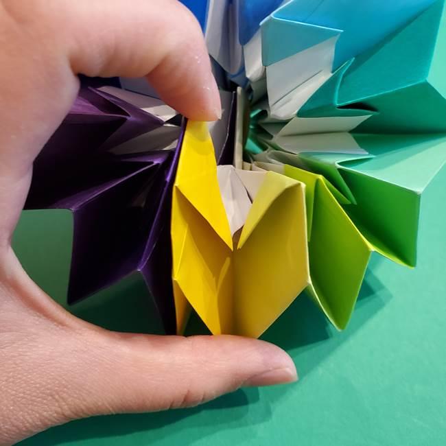 折り紙の花火 12枚でつくる意外と簡単な作り方折り方②組み立て(35)