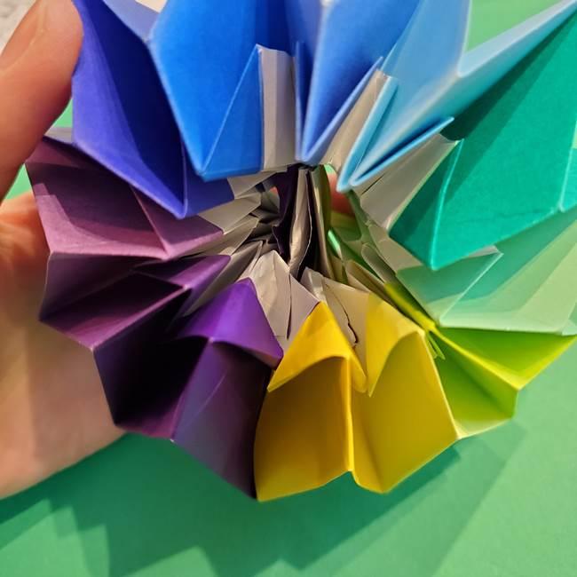 折り紙の花火 12枚でつくる意外と簡単な作り方折り方②組み立て(36)