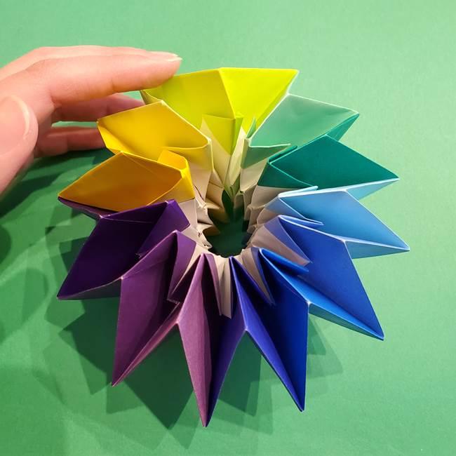 折り紙の花火 12枚でつくる意外と簡単な作り方折り方②組み立て(37)