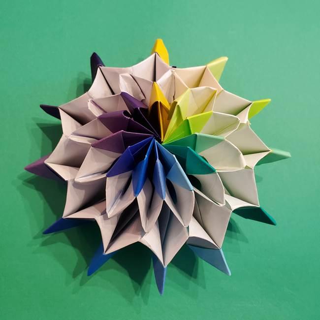 折り紙の花火 12枚でつくる意外と簡単な作り方折り方②組み立て(38)