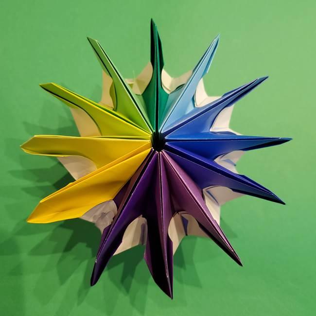 折り紙の花火 12枚でつくる意外と簡単な作り方折り方②組み立て(39)